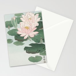 Water Lily Japanese print Stationery Cards