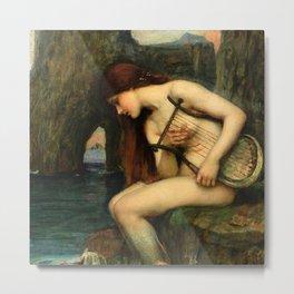 "John William Waterhouse ""The Siren"" Metal Print"