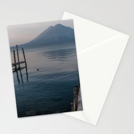 Atitlan Lake and Volcano, Guatemala Stationery Cards