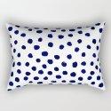 Mini dots painterly brushstrokes boho modern indigo blue and white preppy nautical dorm college art by charlottewinter