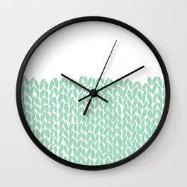 Half Knit Mint Wall Clock