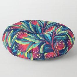 Pohutukawa - Red / Green Floor Pillow