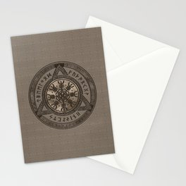The Helm of Awe - Beige Leather and gold Stationery Cards