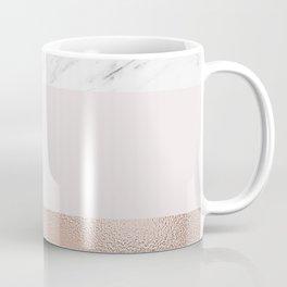 Pastel striping - rose gold marble Coffee Mug
