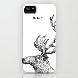 "TypoAnimal - ""Oh Deer..."" iPhone Case"