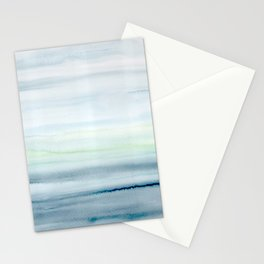 Blue Indigo Ombre Watercolor Abstract Painting  Stationery Cards