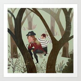 Hook and Smee Art Print