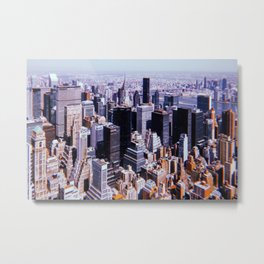 New York City // Retro 17 Metal Print