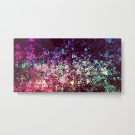 Grunge Concert Festival Background as Colorful Abstract Metal Print