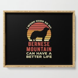 Funny Bernese Mountain Serving Tray