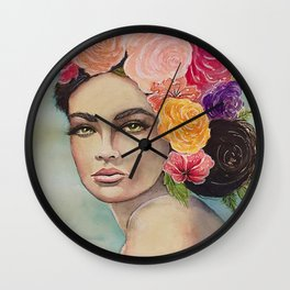 Flower Power by Andrea Wall Clock