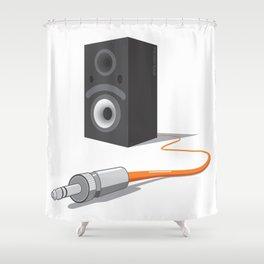 unplug the glance Shower Curtain