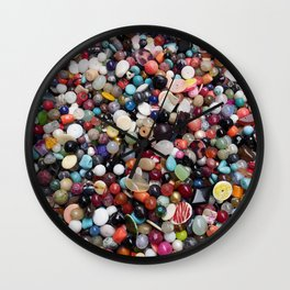 Balls, spheres and many little stones Wall Clock