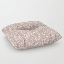 Little wild cheetah spots animal print neutral home trend warm dusty rose coral Floor Pillow