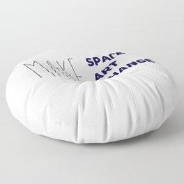 Make Space, Make Art, Make Change (Navy) Floor Pillow