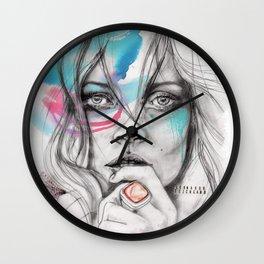 Kate Moss by Leo Tezcucano Wall Clock
