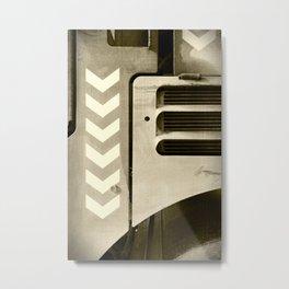 Road Roller Chevron 05 - Industrial Abstract Metal Print