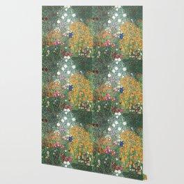 Gustav Klimt Flower Garden Wallpaper