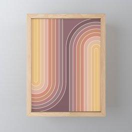 Gradient Curvature I Framed Mini Art Print