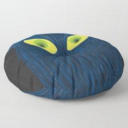 The Blue Owl Floor Pillow