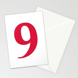 9 (CRIMSON & WHITE NUMBERS) Stationery Cards