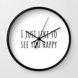 See You Happy Wall Clock