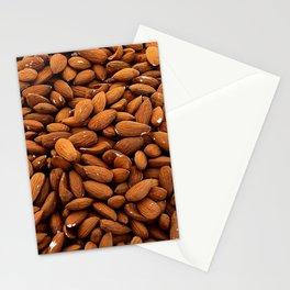 Almonds Nuts pattern Stationery Cards