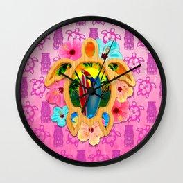 Hawaiian Surf Sunset Wall Clock