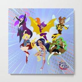 DC Society6 Super Hero Girls - Trending Kids - Room Decorations - Children's Art - Fun Stuff 5k Metal Print