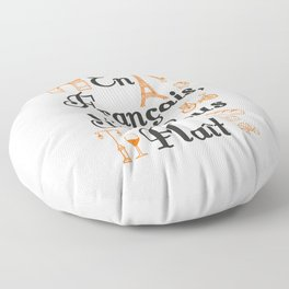 French Teacher En Francais S'il Vous Plait Floor Pillow