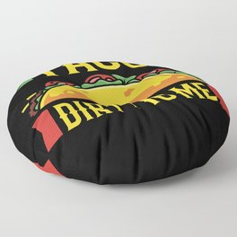 Crunchy Taco Burrito Dip Design Floor Pillow