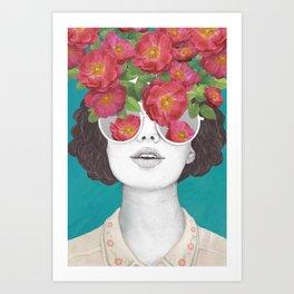 Rose Tinted Glasses Canvas Print Art Print