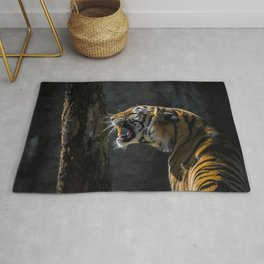 Ferocious Bengal Tiger Rug
