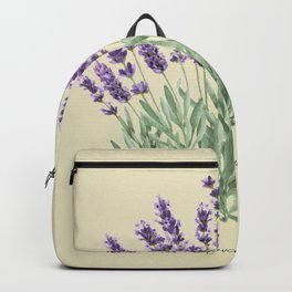 Vintage botanical print - Lavender Backpack