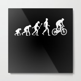 Evolution + Mountain Biking Cycling Gift Metal Print