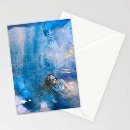 Silent Swim Stationery Cards