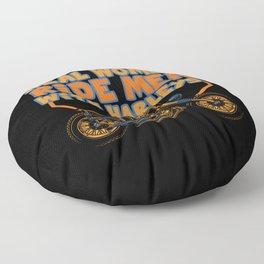 Motorcycle Biker Racing Motorbike Motorcyclist Floor Pillow
