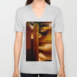 Brushed Metal 2 Unisex V-Neck