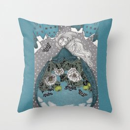 Frau Holle--Up is Down, Down is Up (The Otherworld)  Throw Pillow