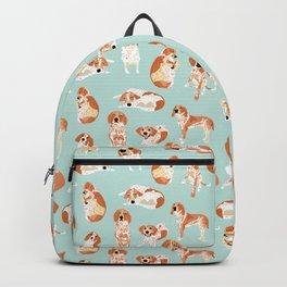 Redtick Coonhound on Light Blue Backpack