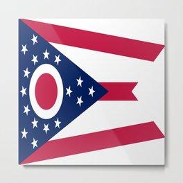 flag of Ohio,Midwest,Ohioan,Buckeye,Colombus,Cleveland,Cincinnati,Usa,america,united states,us Metal Print
