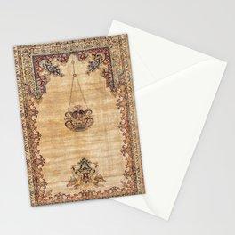 Tabriz  Antique North West Persian Silk Niche Rug Print Stationery Cards