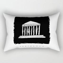 Parthenon in ink Rectangular Pillow