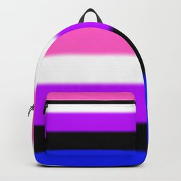 Genderfluid Pride Flag Backpack