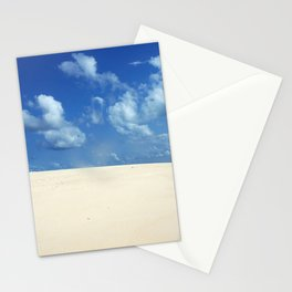 Sky Clouds Tropical Beach White Sand Africa Stationery Cards