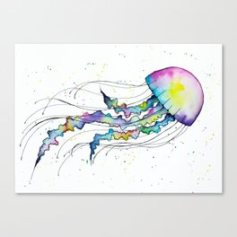 Pastel Jellyfish Canvas Print