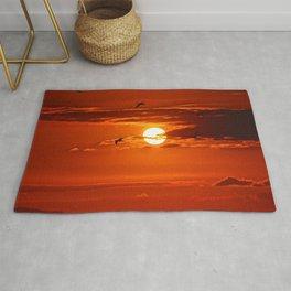 Red Sunset2 False Bay Rug
