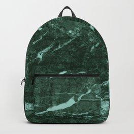 Dark Green Marble texture Backpack