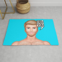 Ken Needs to Talk! Rug