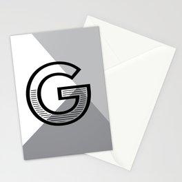 G monogram no. 1 - angle series Stationery Cards